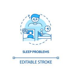 Sleep problems concept icon vector