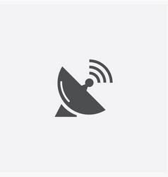 sputnik antenna icon vector image