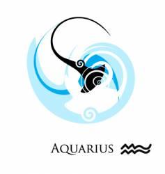 star sign zodiac aquarius vector image