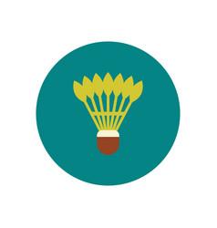 Stylish icon in color circle shuttlecock badminton vector