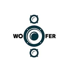 Subwoofer symbol vector