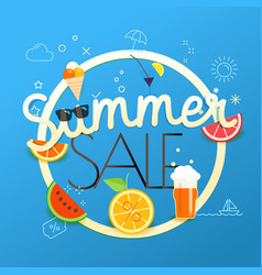 Summer sale season sale concept vector