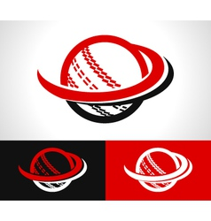 Swoosh Cricket Ball Icon vector