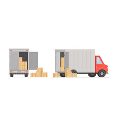 Truck with boxes post vector