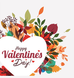 valentines day greeting card background template vector image