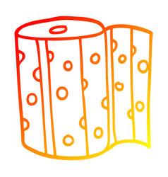 Warm gradient line drawing cartoon dotty kitchen vector