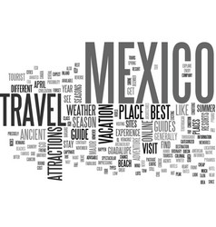 Your way to mexico a travel guide text word cloud vector