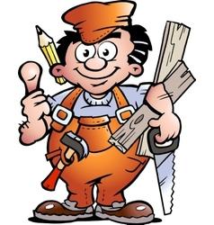 an Carpenter Handyman vector image