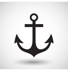 Anchor symbol on gray background vector image vector image