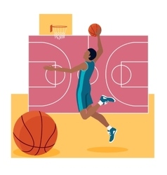 Basketball Sport Team Concept Icon Flat Design vector image vector image