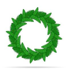 christmas wreath stock vector image
