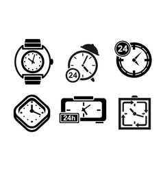 Clock and timer icons set vector image