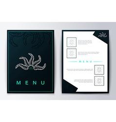 Design menu Brochure culinary menu Menu background vector image