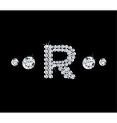 Diamond alphabetic letter R vector image vector image