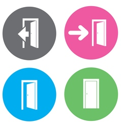 door open flat vector image