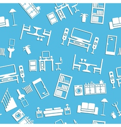 furniture pattern vector image vector image