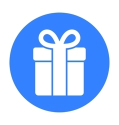 Gift icon of for web and vector image
