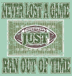never lose a game vector image vector image