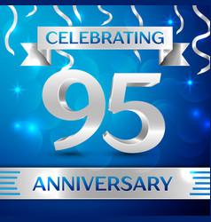 Ninety five years anniversary celebration design vector