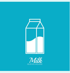 paper bag with milk vector image