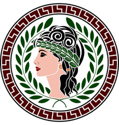 patrician women stencil second variant vector image