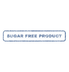 sugar free product textile stamp vector image