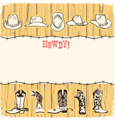 cowboy party paper background for text vector image vector image