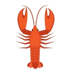 Crawfish icon flat style Lobster isolated on vector image