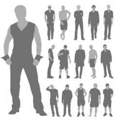 fashion man set vector image vector image