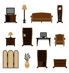 furniture set vector image vector image
