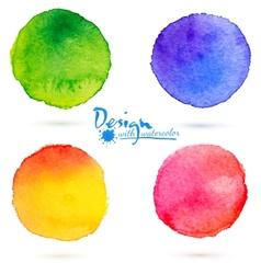 watercolor circle splashes set vector image vector image