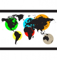 world color background vector image