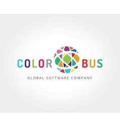 Abstract colored globe logo template for branding vector image