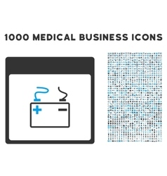 Accumulator Calendar Page Icon With 1000 Medical vector image