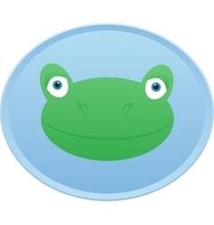 Frog head Button badge vector image vector image
