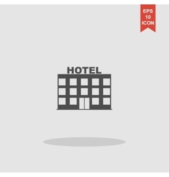 hotel icon concept for design vector image