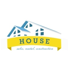 House logo design template Realty theme icon vector image