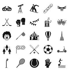 kidding icons set simple style vector image vector image
