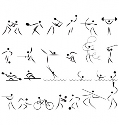 summer sport icon set vector image vector image