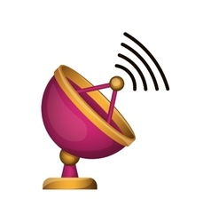 antenna with wireless waves vector image