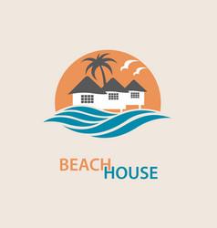 beach house logo vector image