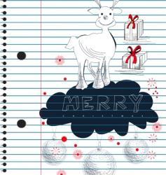 Christmas sketch vector image vector image