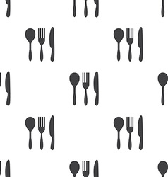 cutlery seamless pattern vector image vector image