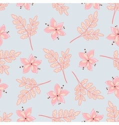 Doodle Floral Seamless Pattern vector image