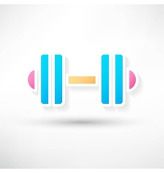 dumbbell icon vector image