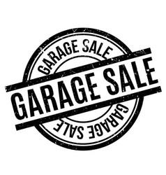 garage sale rubber stamp vector image