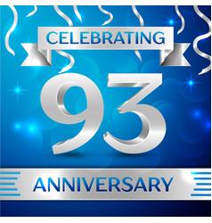 Ninety three years anniversary celebration design vector