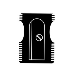 sharpener school utensil pictogram vector image vector image