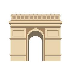 Triumphal arch paris vector