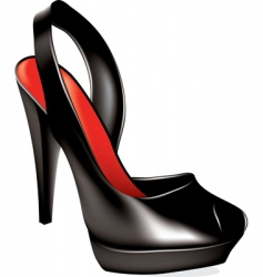 vector high heel shoe vector image vector image